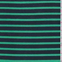 Navy/Aquamarine Stripe Double Knit