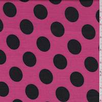 Hot Pink/Black Polka Dot Double Knit