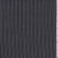 Black/Pearl Stripe Cotton Shirting