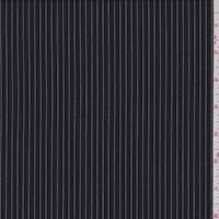 Black/White Pinstripe Cotton Shirting