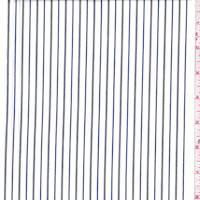 White/Nickel/Navy Stripe Cotton Shirting