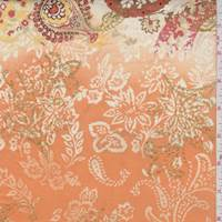 Orange/Maize Paisley Cotton Poplin