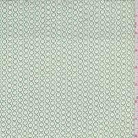 Ivory/Green Mini Floral Dot Cotton Poplin