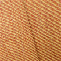 *3 1/2 YD PC-Orange/Multi Ribbed Home Decorating Fabric