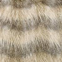 *1 1/2 YD PC-Beige/Brown High Pile Faux Fur Knit