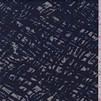Ink/Grey Brushstroke Sweater Knit