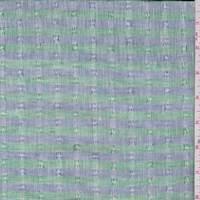 Vintage Blue/Grass Green Stripe Linen