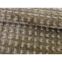 *2 YD PC--Merrimac Mocha Brown Gridlock Chenille Upholstery Fabric