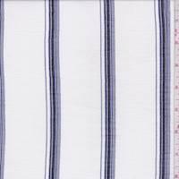 White/Ink Stripe Cotton Muslin