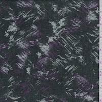 Black/Plum Brushstroke Sweater Knit