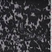 Black/Grey Ikat Print Sweater Knit