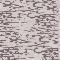 *3 YD PC--Cocoa Brown Camo Burnout T-Shirt Knit