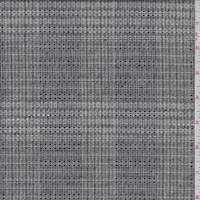 *2 YD PC--Taupe/Black Check Linen Suiting