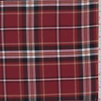 *3 YD PC--Brick Red Plaid Flannel