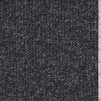 *2 1/4 YD PC--Black/Charcoal Chevron Suiting