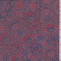 Burgundy/Violet Moroccan Medallion Chiffon