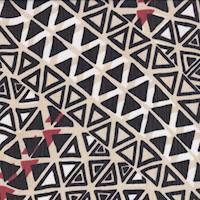 Sand/Black Geo Diamond Crinkle Chiffon