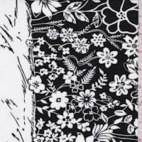 Black/White Floral Cotton Poplin