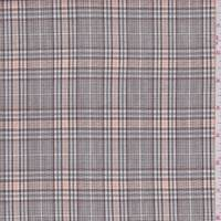 *3 1/8 YD PC--Mocha/Grey Plaid Cotton Suiting