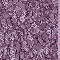 *3 1/4 YD PC--Bordeaux Floral Lace