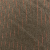 *2 3/8 YD PC--Grey Brown Stripe Suiting