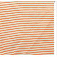 *2 YD PC--Neon Orange/White Pinstripe Chiffon
