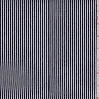 Slate Black/White Stripe Cotton