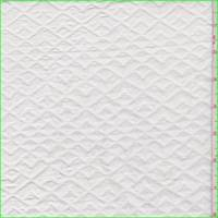 White Embossed Diamond Home Decorating Fabric