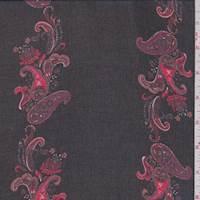 Black/Crimson Paisley Chiffon
