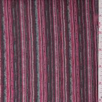 Red Bud Multi Stripe Chiffon