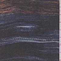 Black/Cobalt Streak Stripe Chiffon