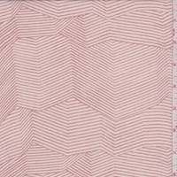 Pink Beige Abstract Chevron Chiffon