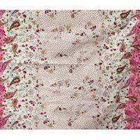 *2 3/4 YD PC--White/Pink Paisley Print Cotton Poplin