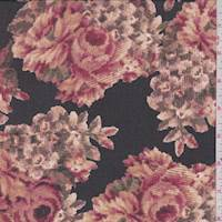 Black/Rose Dust Floral Chiffon