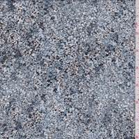 Blue Stone Multi Texture Print Chiffon