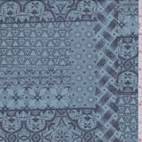Coronet Blue Moroccan Patchwork Chiffon