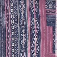 Blue Violet Multi Southwest Chiffon