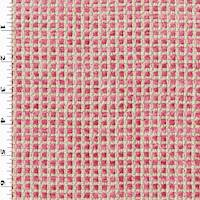 Fuchsia Pink/Beige Chenille Grid Home Decorating Fabric