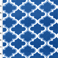 *1 YD PC--Blue Jay/White Moroccan Minky