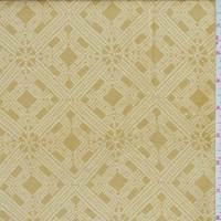 *2 YD PC--Mustard Gold Lattice Gauzy Silk