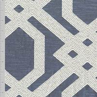 Gunmetal Gray/White Geometric Trellis Jacquard Decor Fabric
