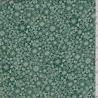 *2 YD PC--Emerald Mini Floral Rayon Georgette