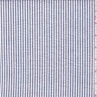 *2 7/8 YD PC--Dark Blue Stripe Seersucker