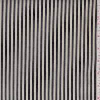 Natural/Black Ticking Stripe Denim