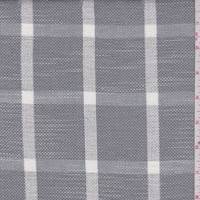 Grey/White Check Rayon Blend