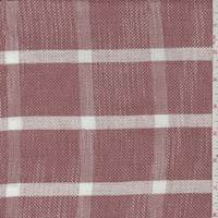 French Clay/White Check Rayon Blend