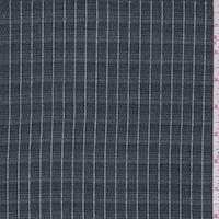 Dark Navy Pinstripe Shirting