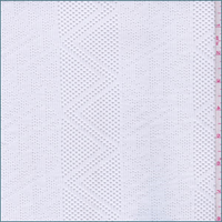 *1 YD PC--White Geometric Stripe Stretch Mesh