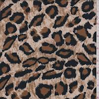 *4 3/4 YD PC--Beige Cheetah Print Challis