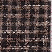 *2 3/8 YD PC--Chocolate Plaid Boucle